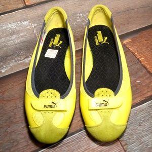 Puma Eco Ortholite Neon Yellow Slip Ons Size 8.5
